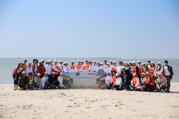 """ซีพีแรม กรมประมง สานต่อความยั่งยืน ยกระดับความมั่นคงทางอาหาร (Food Security) กับโครงการ """"ปูม้า ยั่งยืน คู่ทะเลไทย"""" พร้อมร่วมปล่อยลูกพันธุ์ปูม้ากว่า 200,000 ตัว"""