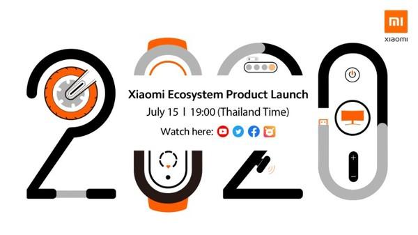"""เตรียมพบกับ การเปิดตัวสุดยอดนวัตกรรมอัจฉริยะแห่งปี 2020 ในงาน """"Xiaomi Ecosystem Product Launch Event"""" วันที่ 15 กรกฎาคมนี้ เวลา 19:00 น."""
