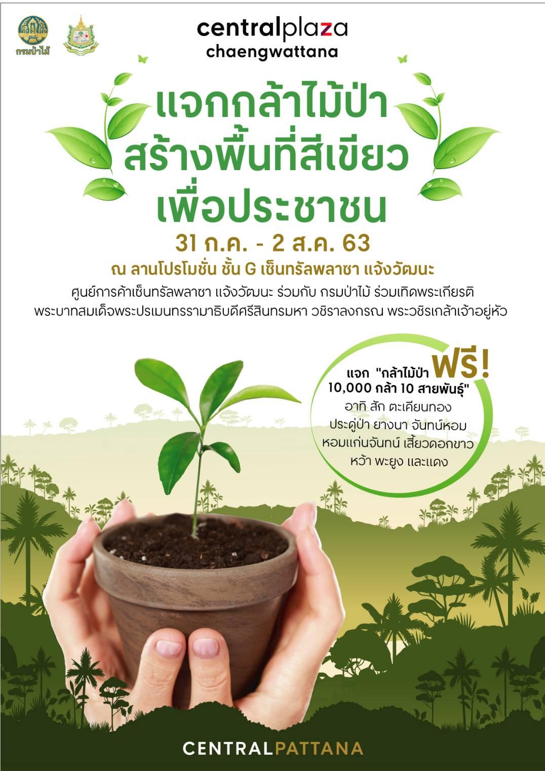 """โครงการ """"แจกกล้าไม้ป่า สร้างพื้นที่สีเขียว เพื่อประชาชน"""""""