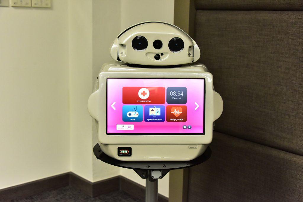 """จุฬาฯ มอบหุ่นยนต์ """"นินจา"""" รุ่น """"จุฬาอารี"""" ให้กรมกิจการผู้สูงอายุ ดูแลผู้สูงอายุและผู้ป่วย"""