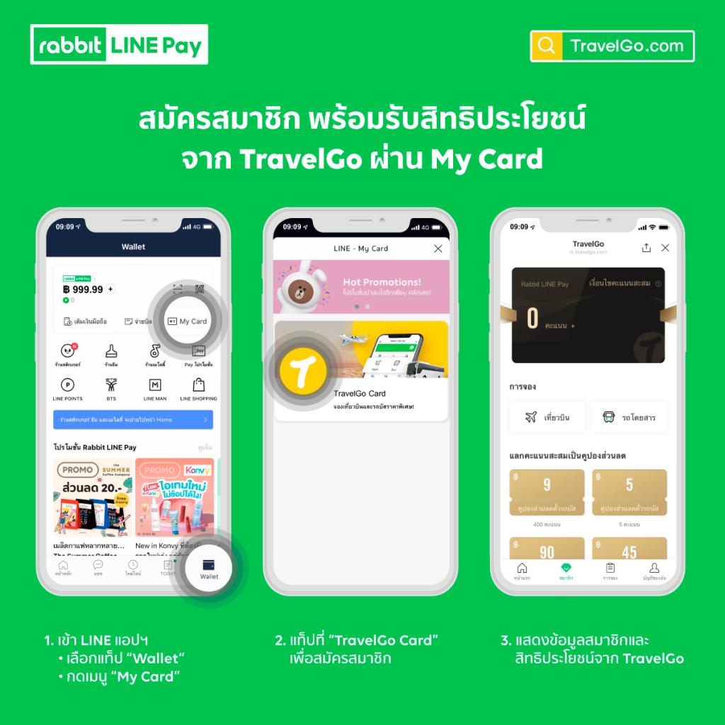 LINE เพิ่มพันธมิตร My Card จับมือ TravelGo เอาใจคนรักการท่องเที่ยว ให้บริการจองซื้อตั๋วรถโดยสาร-ตั๋วเครื่องบินภายในประเทศ แบบครบวงจร