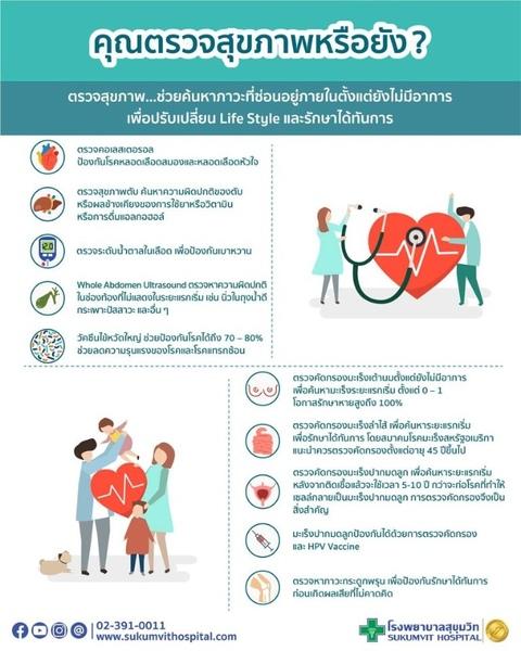 โรงพยาบาลสุขุมวิท แนะตรวจสุขภาพประจำปี สำคัญอย่างไร?
